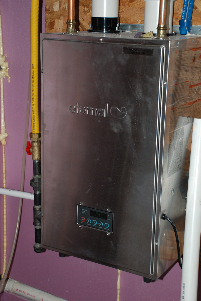 How to install radiant heat easy and cheap caf papa its an eternal water heater the smallest model at 100 kbtu approx 32kwh natural gas heater with 96 efficiency it was installed by brian spurlin ccuart